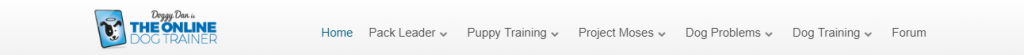 doggy dan training course menu bar