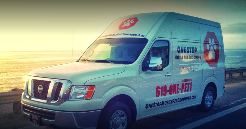 one stop mobile dog grooming